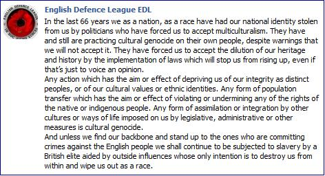 EDL on race and multiculturalism