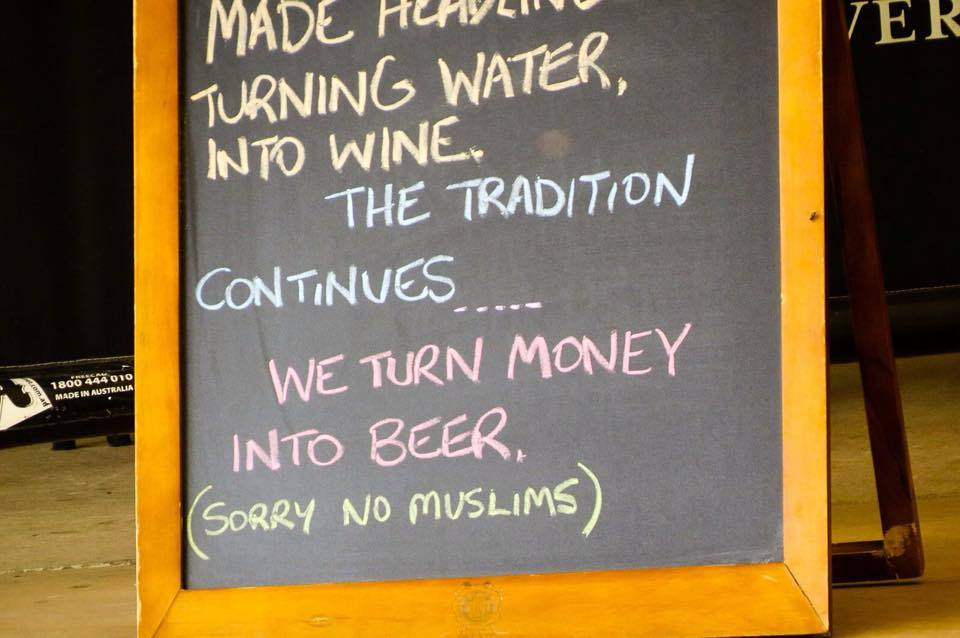 Eagles Nest Bar and Grill 'No Muslims'