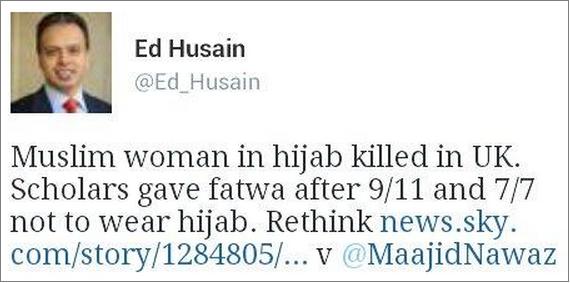 Ed Husain blaming the victim