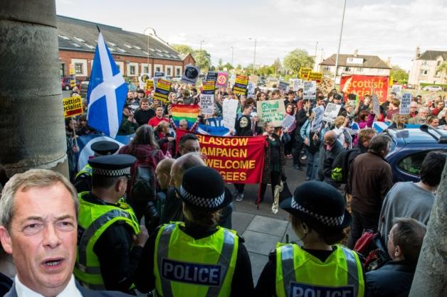 Edinburgh anti-UKIP protest