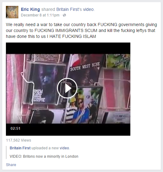 Eric King kill the fucking leftys