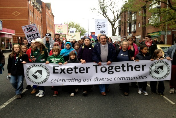 Exeter Together demonstration