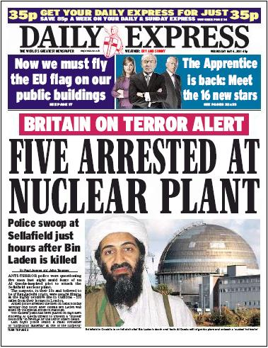 Five arrested at nuclear plant