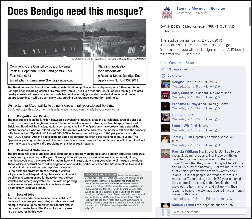 Gavin Boby Bendigo objection advice