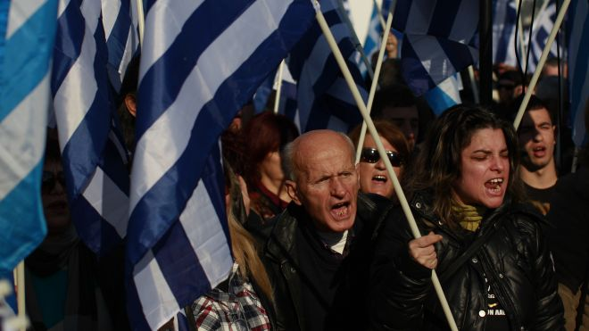 Golden Dawn anti-mosque protest