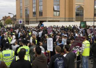 Harrow mosque counter-protest