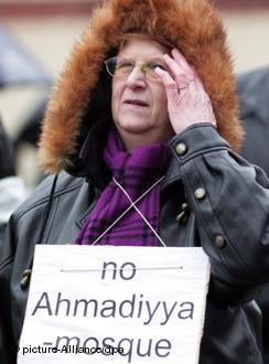 Heinersdorf mosque protestor