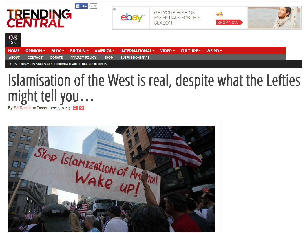 Islamisation of the West is real
