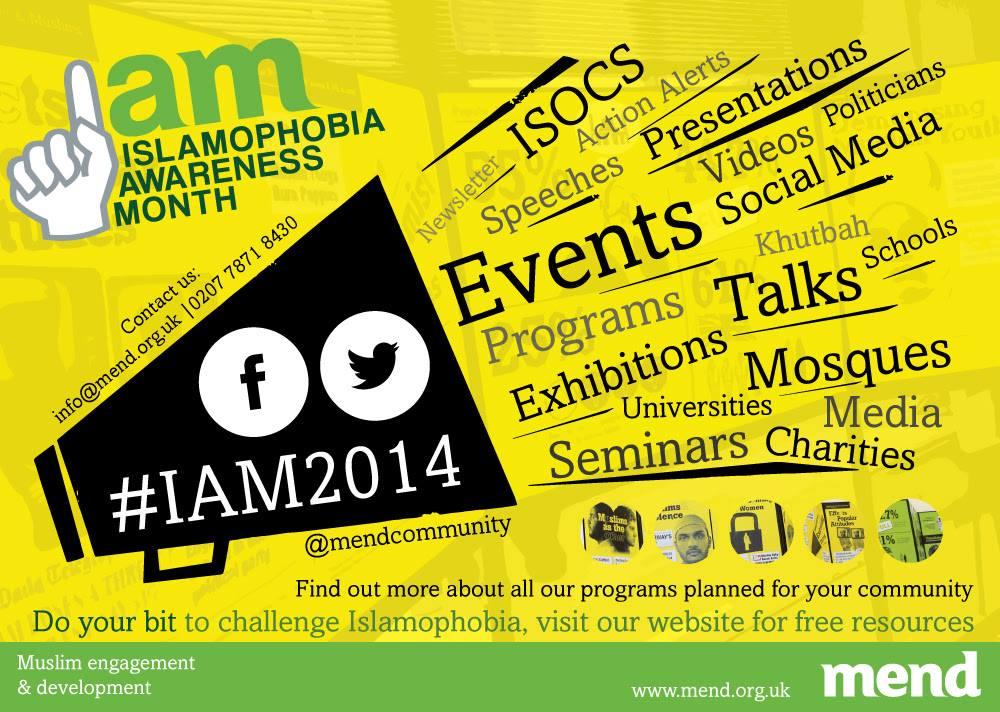 Islamophobia Awareness Month 2014