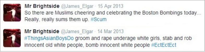 James Elgar tweets