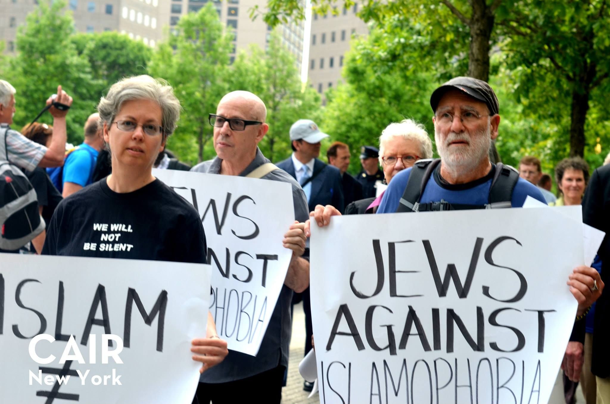 Jews Against Islamophobia 9-11 museum protest