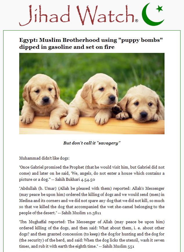 Jihad Watch Muslim Brotherhood puppy bombs (2)