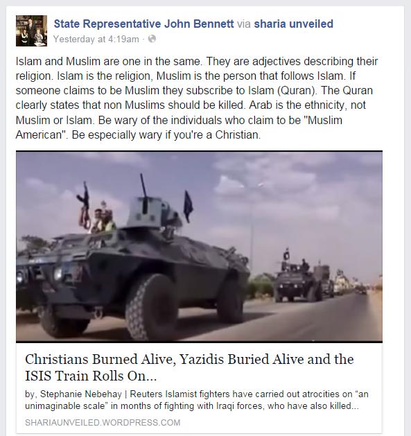 John Bennett on Muslims
