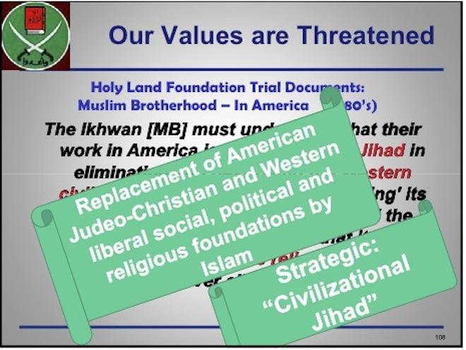 Justice Dept PowerPoint slide