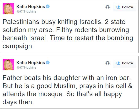 Katie Hopkins tweets