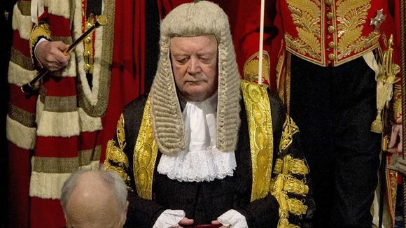 Kenneth Clarke at state opening of parliament