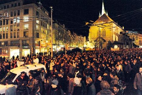 Lausanne protest
