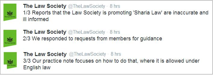 Law Society response to Sharia nonsense