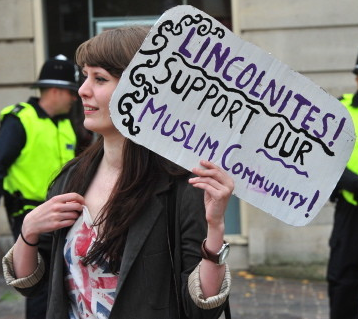 Lincoln anti-racist demonstrator (2)