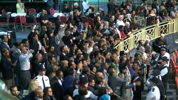 Lutfur Rahman supporters celebrate