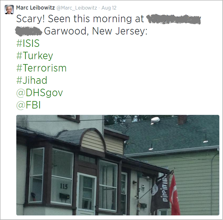 Marc Leibowitz 'ISIS' flag tweet (2)