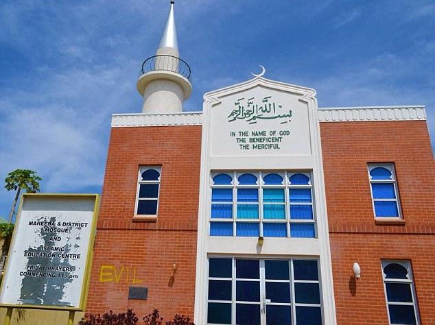 Mareeba mosque graffiti