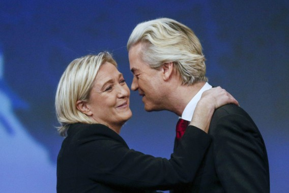 Marine le Pen and Geert Wilders at Lyon conference