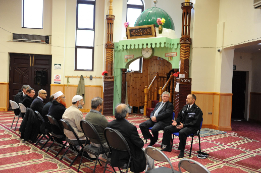 Mark Warrender at Jamia Mosque