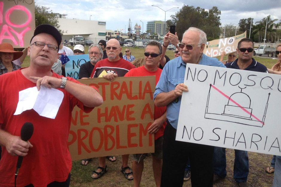 Maroochydore anti-mosque protest