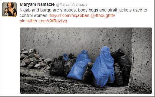 Maryam Namazie burqa tweet