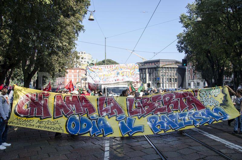 Milan protest against Lega Nord