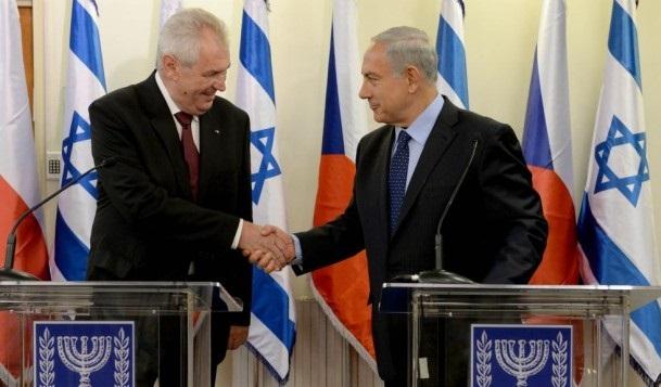 Milos Zeman with Netanyahu
