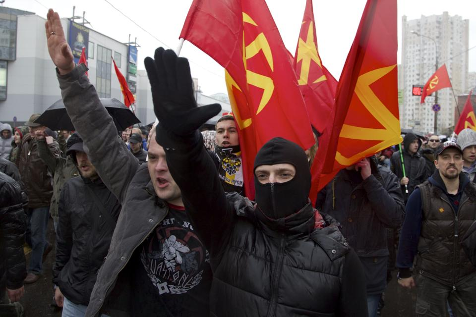 Moscow anti-migrant demonstration November 2013
