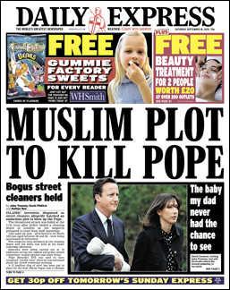 Muslim plot to kill pope