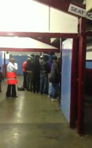Muslims praying at Upton Park
