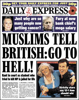 Muslims tell British go to hell
