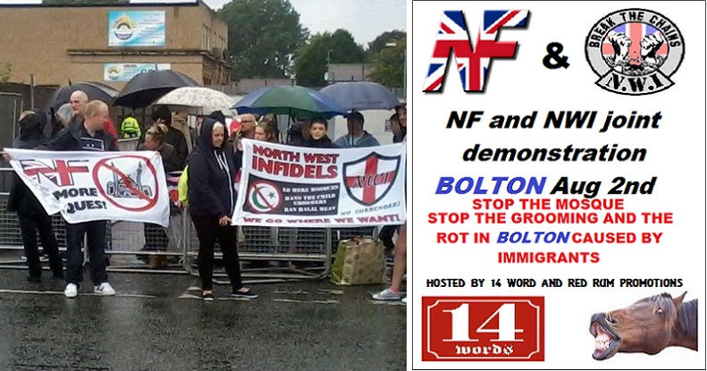 NWI-NF protest Bolton August 2014