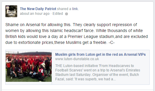 New Daily Patriot condemns Arsenal