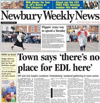 Newbury Weekly News EDL protest report