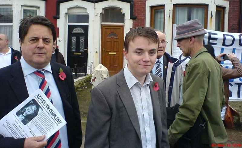 Nick Griffin in Blackpool with Jack Renshaw