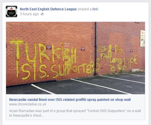 North East EDL on anti-ISIS graffiti