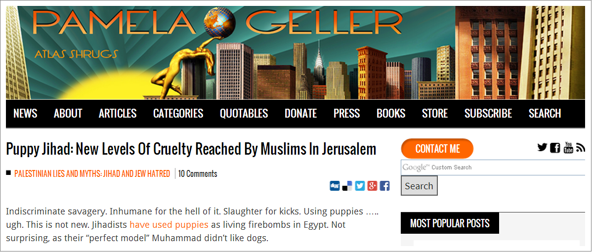 Pamela Geller Puppy Jihad