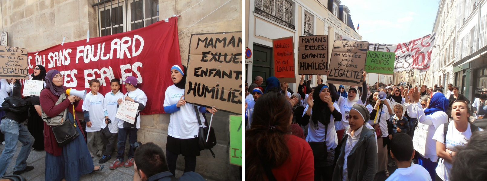 Paris protest against Chatel circular June 2014