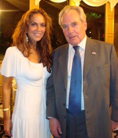 Pearson with Pamela Geller