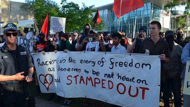 Penrith Antifa protestors