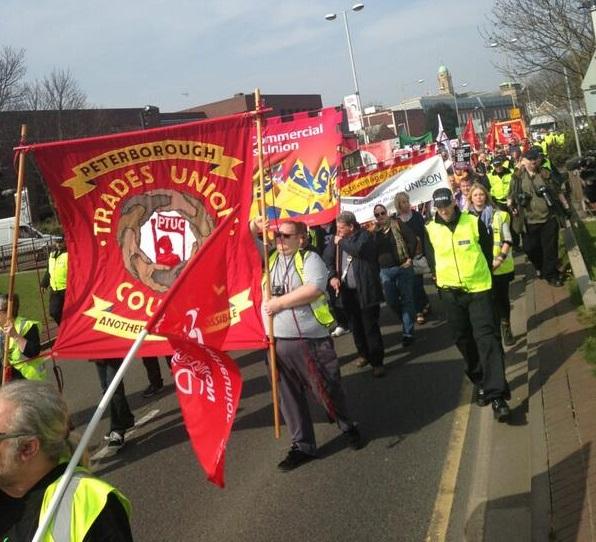 Peterborough TUC march against EDL