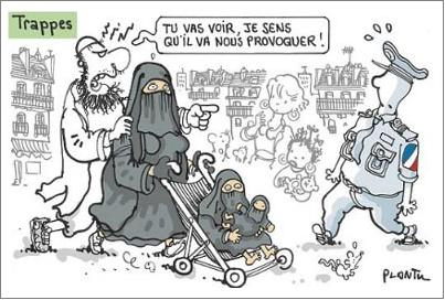 Plantu Trappes cartoon