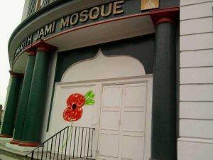 Portsmouth mosque graffiti