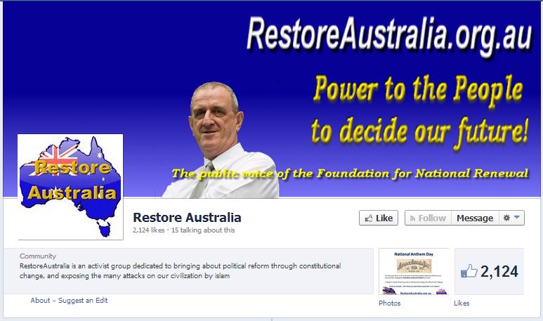 Restore Australia Facebook page