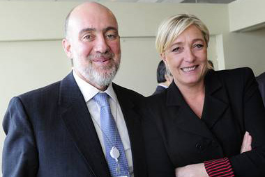 Ron Prosor and Marie Le Pen